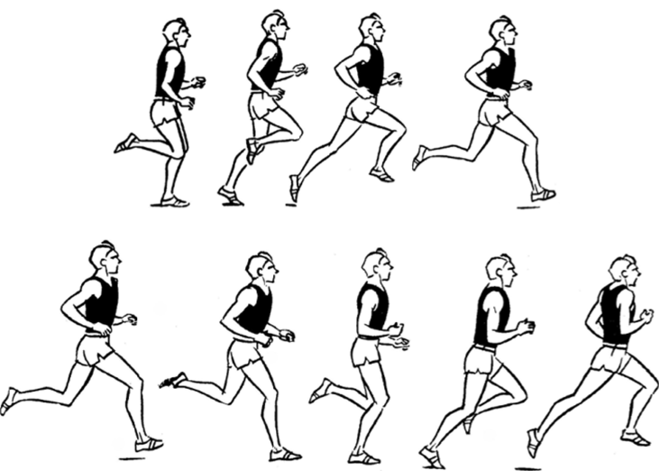бег на короткие дистанции с картинками современной стильной