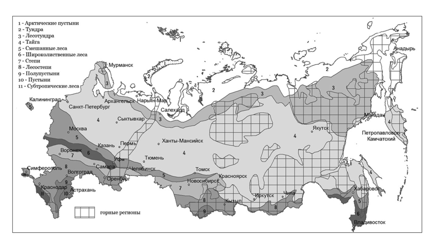 Географические зоны России
