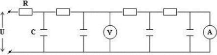 Интегрирующая цепочка конденсаторов и емкостей, как электроаналогия теплопроводности и диффузии