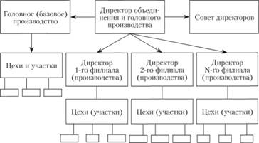Организационная структура отраслевого производственного объединения