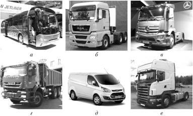 Автомобильный транспорт Технико эксплуатационные показатели  Некоторые зарубежные автомобили для перевозки грузов