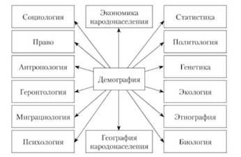 Связь демографии с другими науками и ее структура Демография Взаимосвязь демографии с другими науками