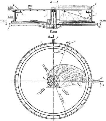 Схема вторичного отстойника с