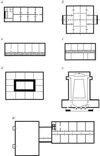 схемы общественных зданий