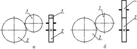 Изображения зубчатой передачи в схеме